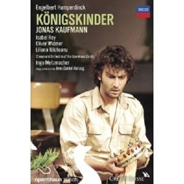 JONAS KAUFMANN - KÖNIGSKINDER 2 DVD NEU OPER ENGELBERT HUMPERDINCK