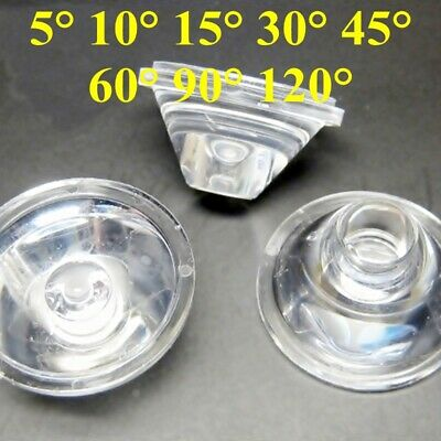 Us 1020pcs 5101530456090120 Degree Led Lens Clear Collimator Reflector