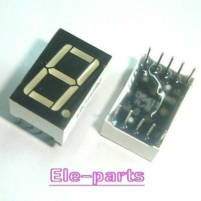 20 Pcs 1 Digit 0.56 Green 7 Segment Led Display Common Anode 10 Pins New