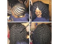 AFRO HAIRDRESSER HAIR DRESSER (CROCHET BRAIDS, WEAVES, STYLING & FRINGE CUT)ADULT/CAUCASIAN/MIXED