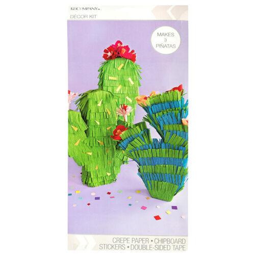 K&Company Cactus Crepe Paper Decor PINATA Kit - Makes 3 Pinatas NIP(21C)