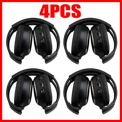 4X Infrared Stereo Wireless Headphone Headset IR for Car CD DVD Player Headrest on Rummage