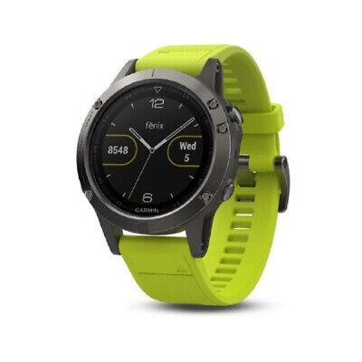 Garmin Fenix 5 Multisport Training GPS Watch - Slate Gray with Amp Yellow Band