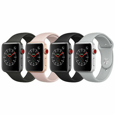 Apple Watch Series 3 Aluminum Case | 38mm 42mm | GPS+Cellular | Gray/Silver/Gold