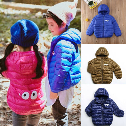 Toddler Baby Girl Boys Winter Warm Outerwear Hooded Coat Dow