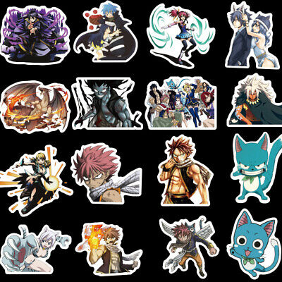 Inexpensive Home Decor Sites 50pcs FAIRY TAIL Waterproof No Repeating Stickers Biks Cars CartoonLuggage Anime Resale Home Decor