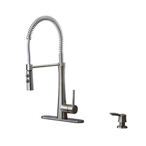 Giagni Fresco 1-Handle Pre-Rinse Kitchen Faucet, Stainless Steel