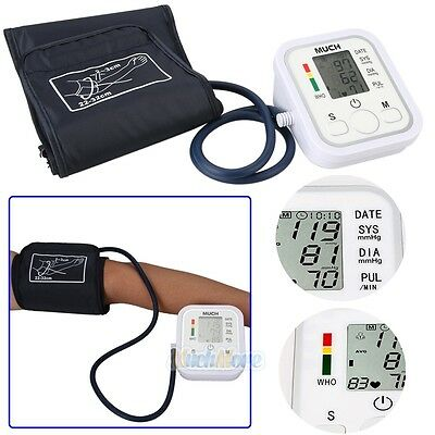 Automatic Digital LCD Arm Cuff Blood Pressure Pulse Monitor Sphgmomanometer NEW
