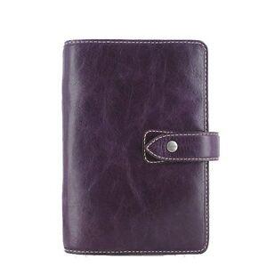 Filofax Malden Personal Organiser Full Grain Buffalo Leather Purple
