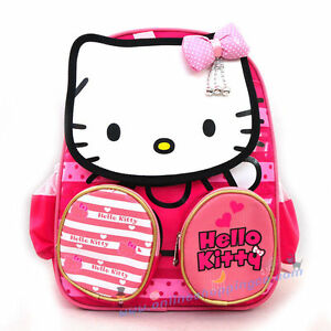CUTE-PINK-HELLO-KITTY-PLUSH-PRESCHOOL-SCHOOL-BACKPACK-SHOULDER-BOYS-KIDS-TOY-BAG