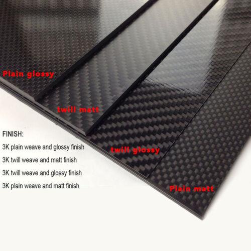 ARRIS 200X300X2.5mm 100% 3K Carbon Fiber Plate Twill Weave Sheet MATT Surface