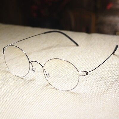 Vintage round titanium eyeglasses frame Steve Jobs gray eye glasses clear lens ](Steve Jobs Glasses)