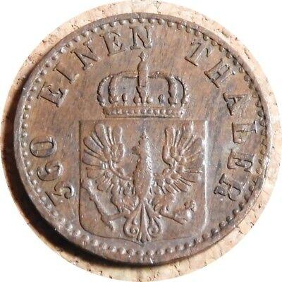 elf Germany Prussia Kingdom  1 Pfennig 1868 B