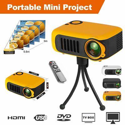 Mini 3D Projector LED Multimedia Home Theater Cinema AV USB VGA HDMI 1080P HD