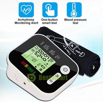 Automatic Digital Upper Arm Blood Pressure Monitor Lcd Wlarge Cuffvoicebattey
