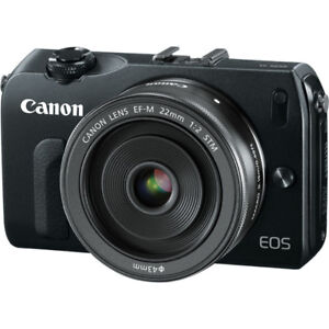 Canon M mirrorless camera with EF-M 22mm f/2 lens - 1080p video