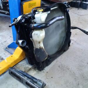 04 dodge ram 2500 3500 5.9 cummins rad, intercooler, condensor