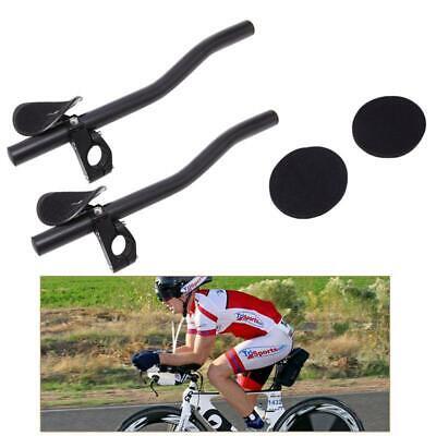 Carbon Road MTB Bike TT Triathlon Aero Bar rest Handlebar Aerobar 31.8*290mm Red