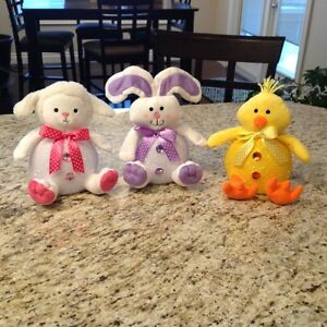 Three Spring Time Lightups (Lamb, Bunny, Chick) - NEW!