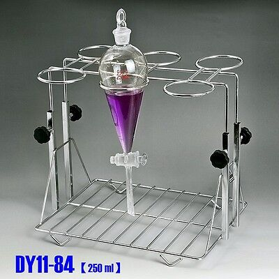 Stainless Steel Separatory Funnel Stand Frame Adjustable Lifting Fit 250ml