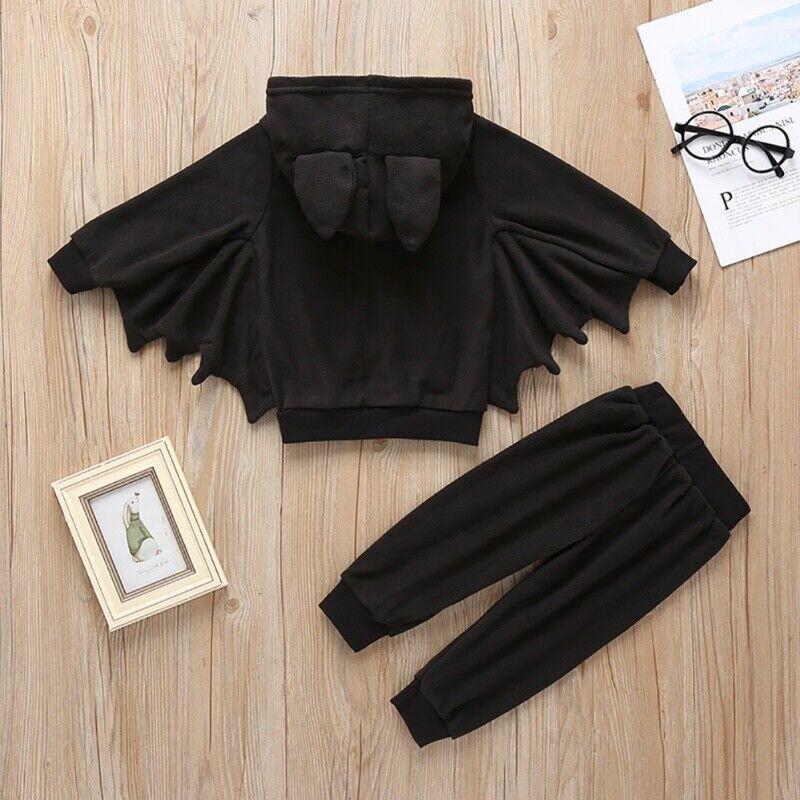 Boy Girl Clothes Bat Long Sleeve Kid Newborn Jumpsuit Infant Halloween Costume C