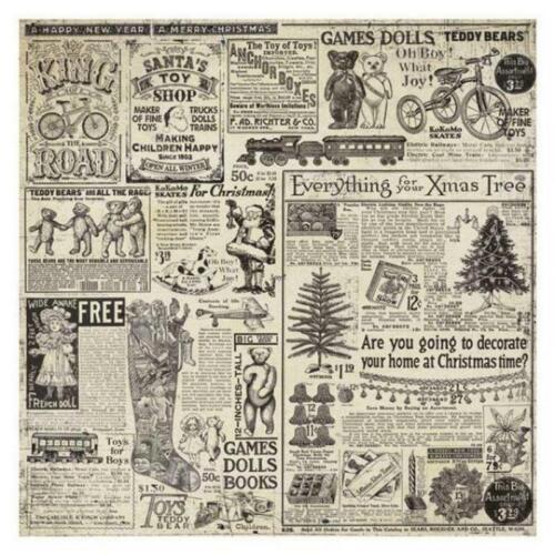 Stamperia Mixed Media Rice Paper Napkin - Christmas Vintage New