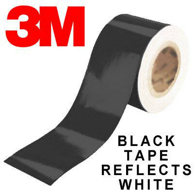 3 Meter Reflective Tape - 3M™ 580 reflective vinyl tape black color 200mm(20cm) x 1 Meters in roll