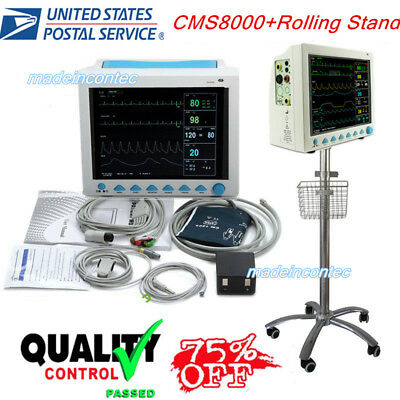 Portable Multi-parameter Vital Signs Patient Monitorrolling Stand Icuccu Usa