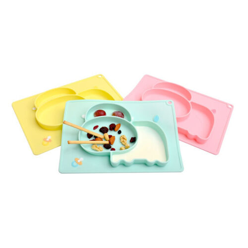 Safety Silicone Baby Plates Tableware Kids Dividers Dishes P