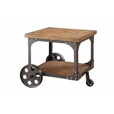 $178.42 -  Coaster 701127 Home Furnishings End Table, Rustic Brown NEW