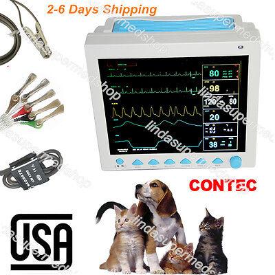 Contec Vet Veterinary Icu Vital Signs Patient Monitor Spo2ecgnibprestemp Us