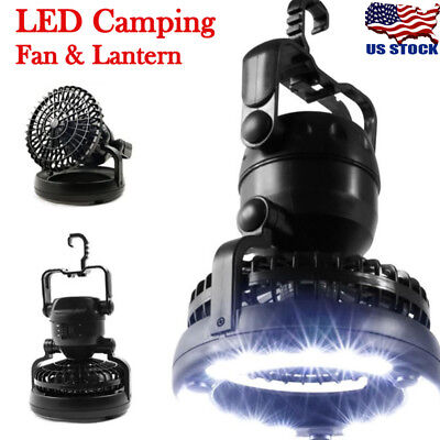 Tent Fan LED Light Camping Gear Outdoor Hiking Equipment Portable Ceiling Lamp