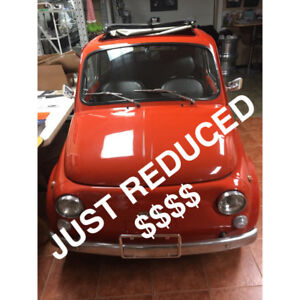 IMPECCABLE 1972 FIAT 500 NOW AVAILABLE TO SERIOUS COLLECTORS.