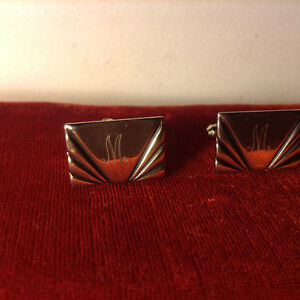 Vintage Gilt Mens  Cufflinks M