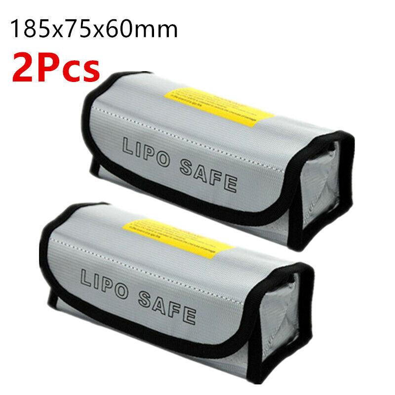2X Lipo Battery Safe Bag Guard Fireproof Explosionproof Sack