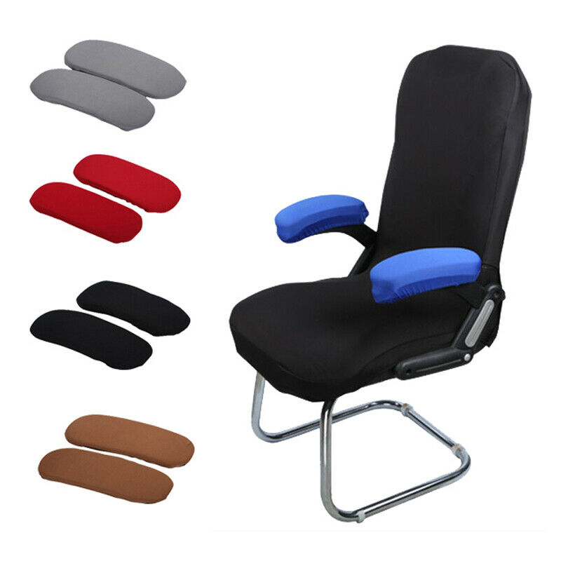 Stretch Chair Armrest Covers Computer Office Removable Arm P