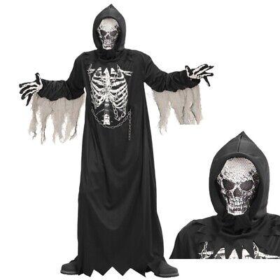 SENSENMANN KINDER KOSTÜM & MASKE Geister Skelett Monster Halloween Jungen #0867