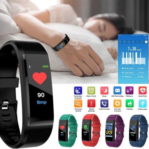 Mit Herzfrequenzmesser Blutdruck Bluetooth Smartwatch Armbanduhr Fitness Tracker