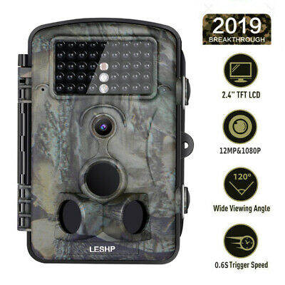 HD 12MP 1080P Hunting Trail Camera Video Wildlife Scouting IR Night Vision 65ft