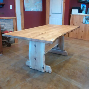 Live Edge Cedar Furniture - Table and benches