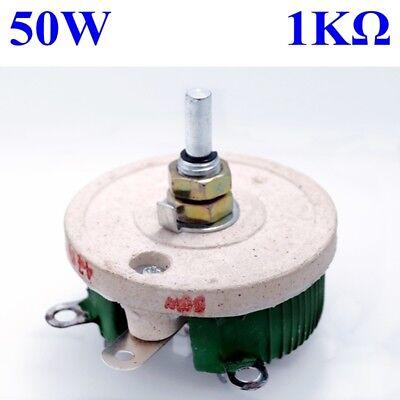 50w 1k Ohm Power Wirewound Potentiometer Rheostat Variable Resistor