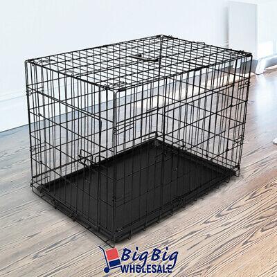 30 medium portable folding black dog crate