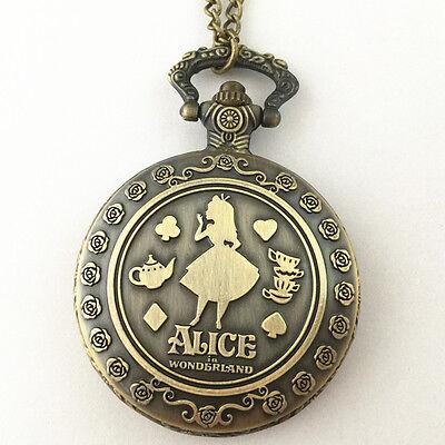 Reloj de bolsillo Alicia en el país de las maravillas gato Cheshire