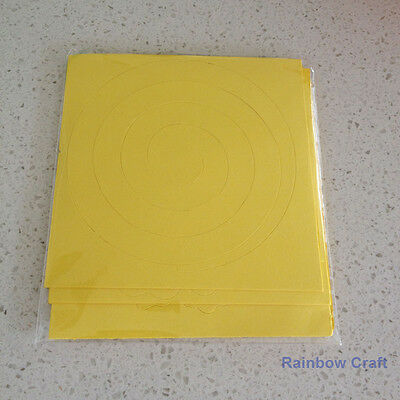 Spiral Quilling Paper - perfect for making flowers 11 Colors (U select) 5 types - Yellow