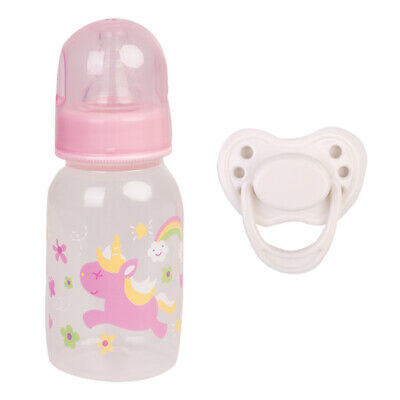 Reborn Doll Accessories White Magnetic Dummy Pacifier & Feeding Bottle Supplies