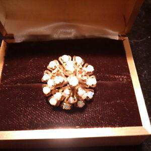Ladies White Opal Dinner Ring