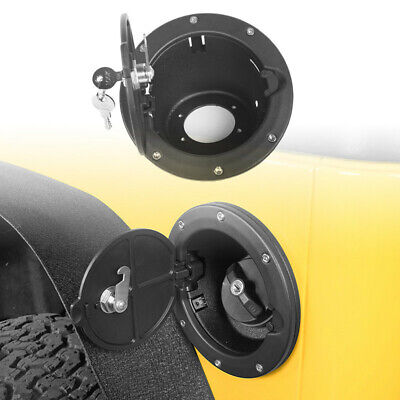 ABS Aluminum Fuel Gas Tank Cap Cover Intake w/Locking For Jeep Wrangler TJ 97-06 Aluminum Fuel Cap