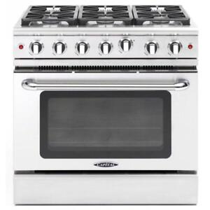 "https://aniks.ca/ Capital MCR366N 36"" Gas Range 19000 BTU/hr, 4.9 cu. ft. Convection Oven Sale - In store Best Offer"