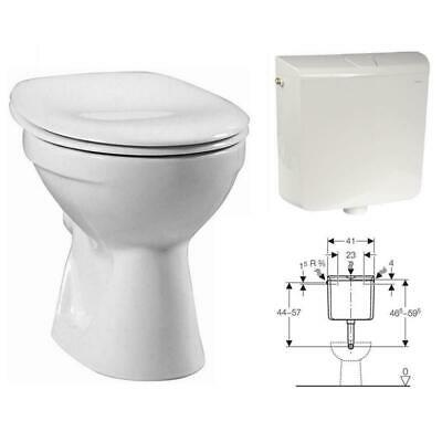Keramag Delta Stand WC Tiefspüler Tiefspül Klo Toilette mit Geberit Spülkasten (Toiletten)