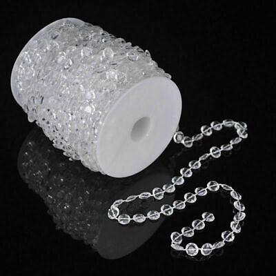 US 99 FT Garland Diamond Strand Acrylic Crystal Bead Beaded Wedding Decoration ](Pearl Garland)